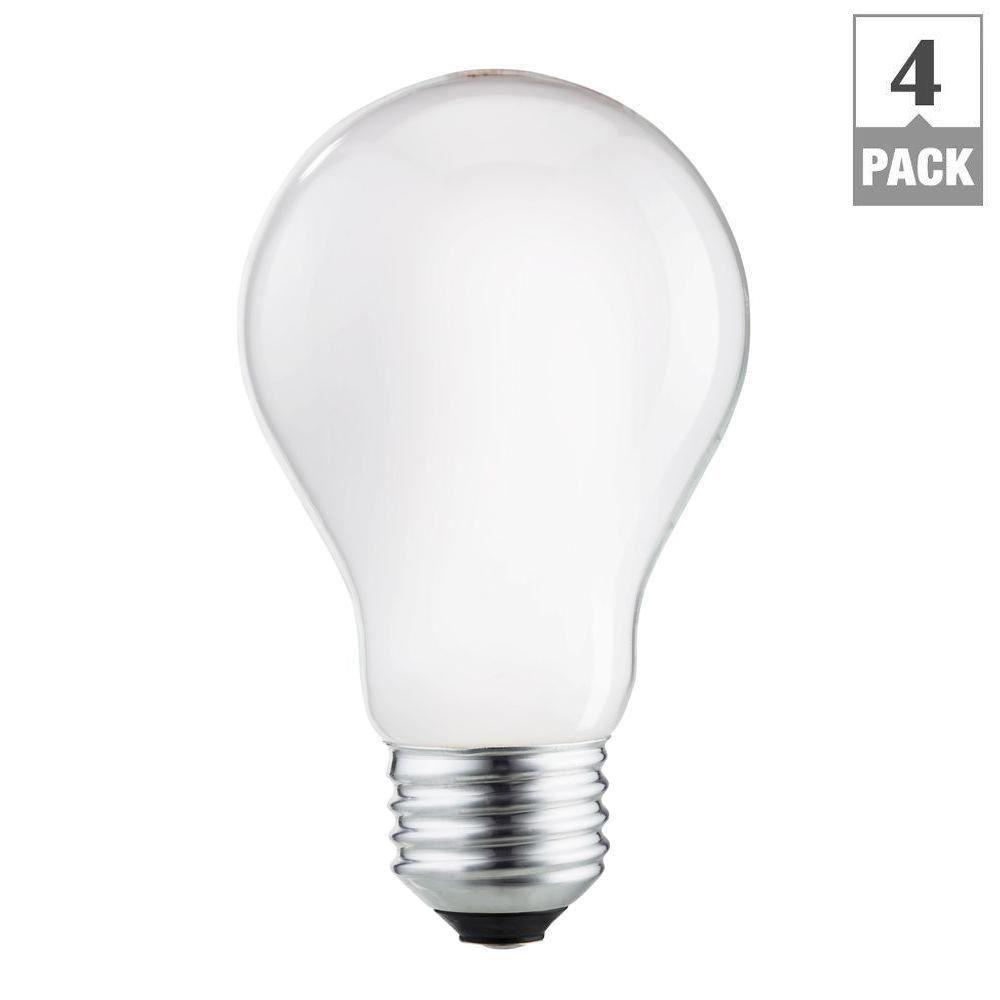Philips 40-Watt Equivalent Halogen A19 Long Life Light Bulb (4-Pack)