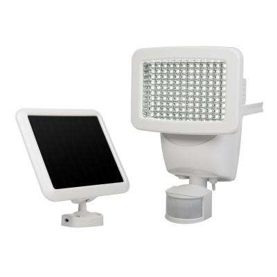 Solar 180-Degree White Motion Activated Outdoor 120 Integrated LED Area Light