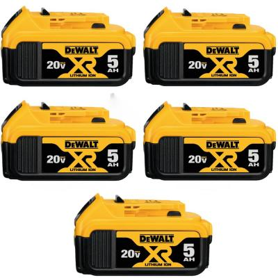 20-Volt MAX XR Premium Lithium-Ion 5.0Ah Battery Pack (5-Pack)