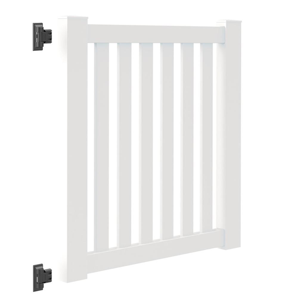 Colorado 4 ft. W x 4 ft. H White Vinyl Un-Assembled Fence Gate