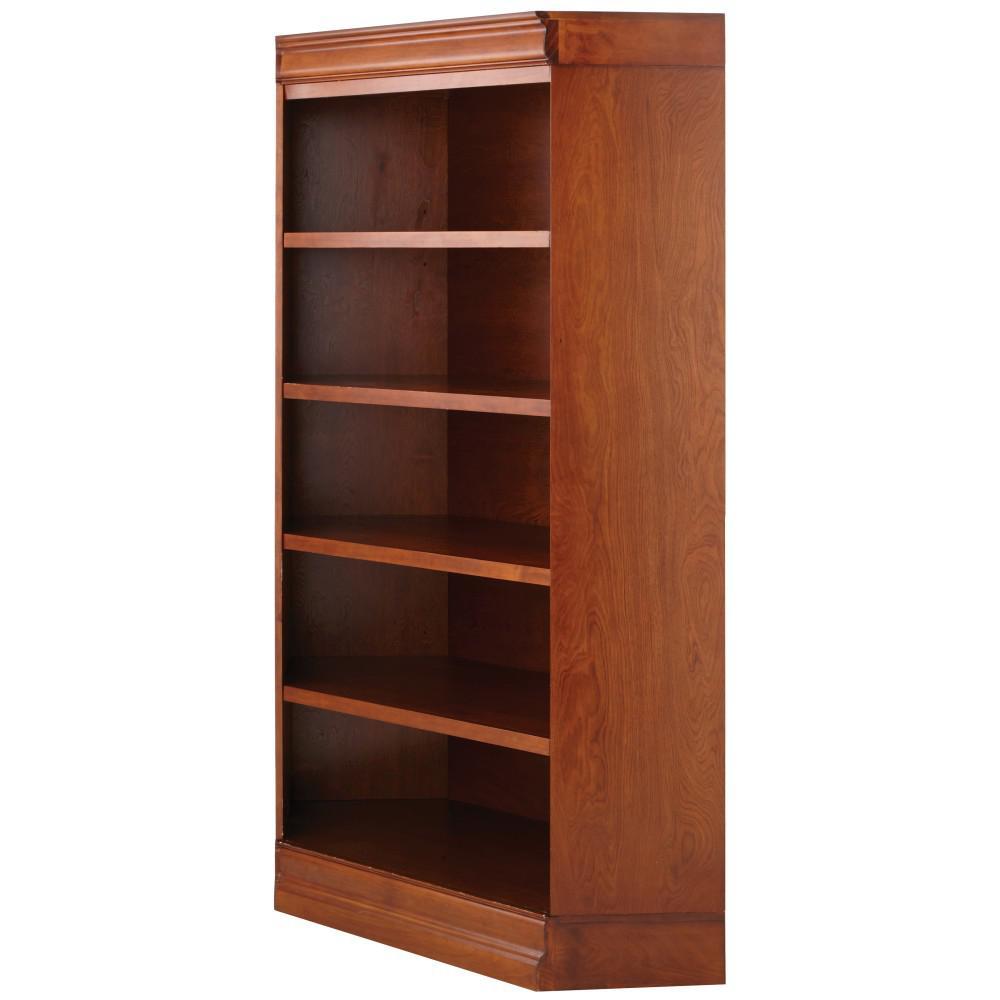 Louis Philippe Modular Sequoia Corner Open Bookcase