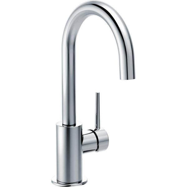 Contemporary Single-Handle Bar Faucet in Chrome
