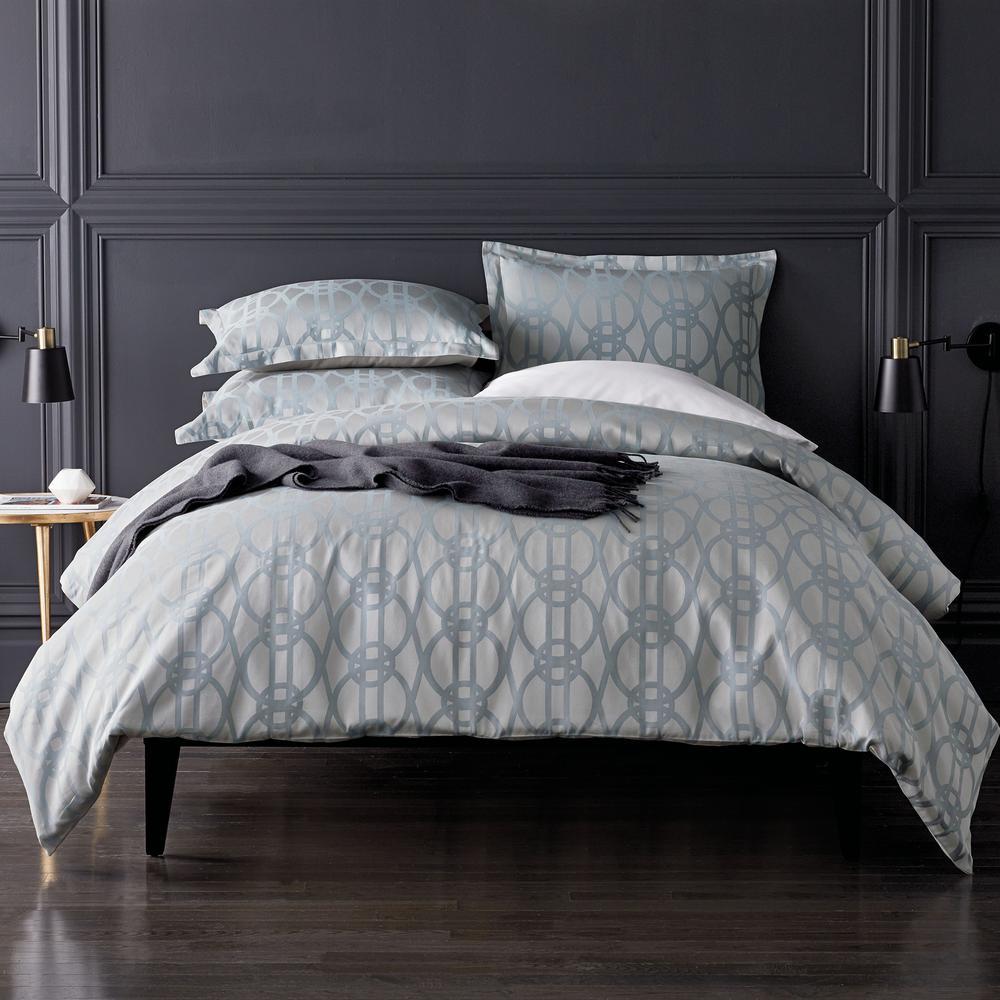 Arden Cotton Queen Duvet Cover in Blue Multi