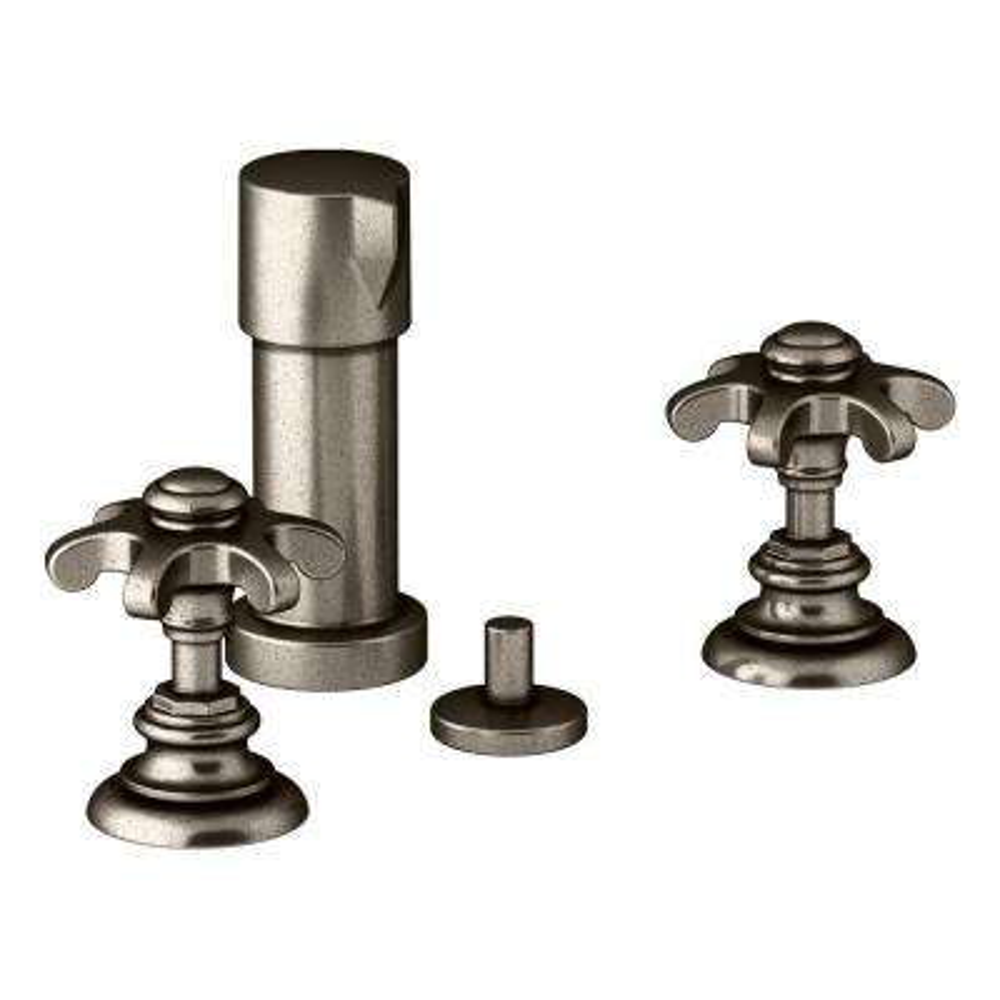 Artifacts Prong 2-Handle Bidet Faucet in Vintage Nickel