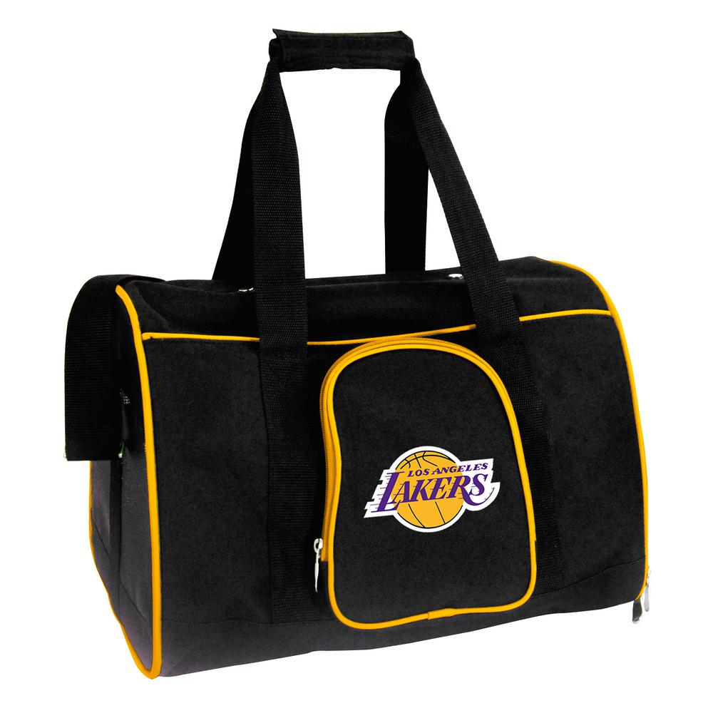 b387bca782a1 Denco NBA Los Angeles Lakers Pet Carrier Premium Bag with wheels in ...