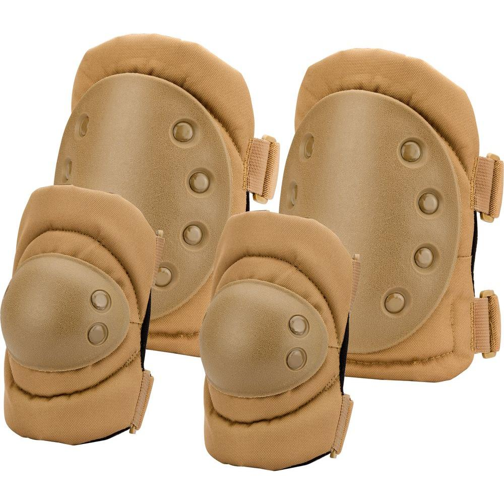 BARSKA Loaded Gear Flat Dark Earth Polyester CX-400 Elbow and Knee Pads
