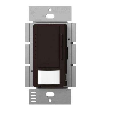 Maestro C.L Dimmer and Vacancy Motion Sensor, Single Pole and Multi-Location, Brown