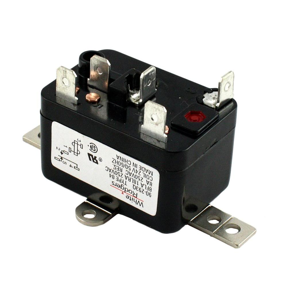 white rodgers 24 volt coil voltage spdt rbm type relay 90 293q the rh homedepot com White Rogers Relay Wiring Diagram 5 Post Relay Wiring Diagram