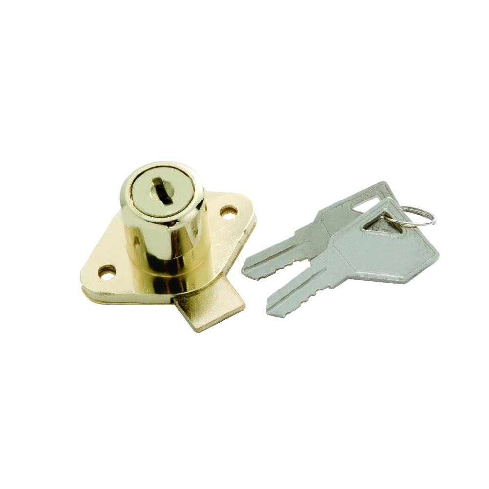 First Watch Security Polished Brass Cabinet And Drawer Lock 1355