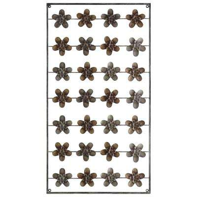 "44 in. H ""28 Flower"" Printed Wall Decor"
