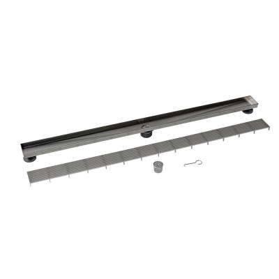Designline 48 in. Stainless Steel Linear Drain Wedge Wire Grate