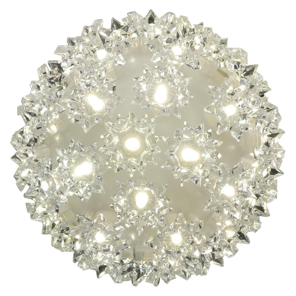 Stay Bright LED 5.5 in. 50-Light Warm White Decorative Super Sphere