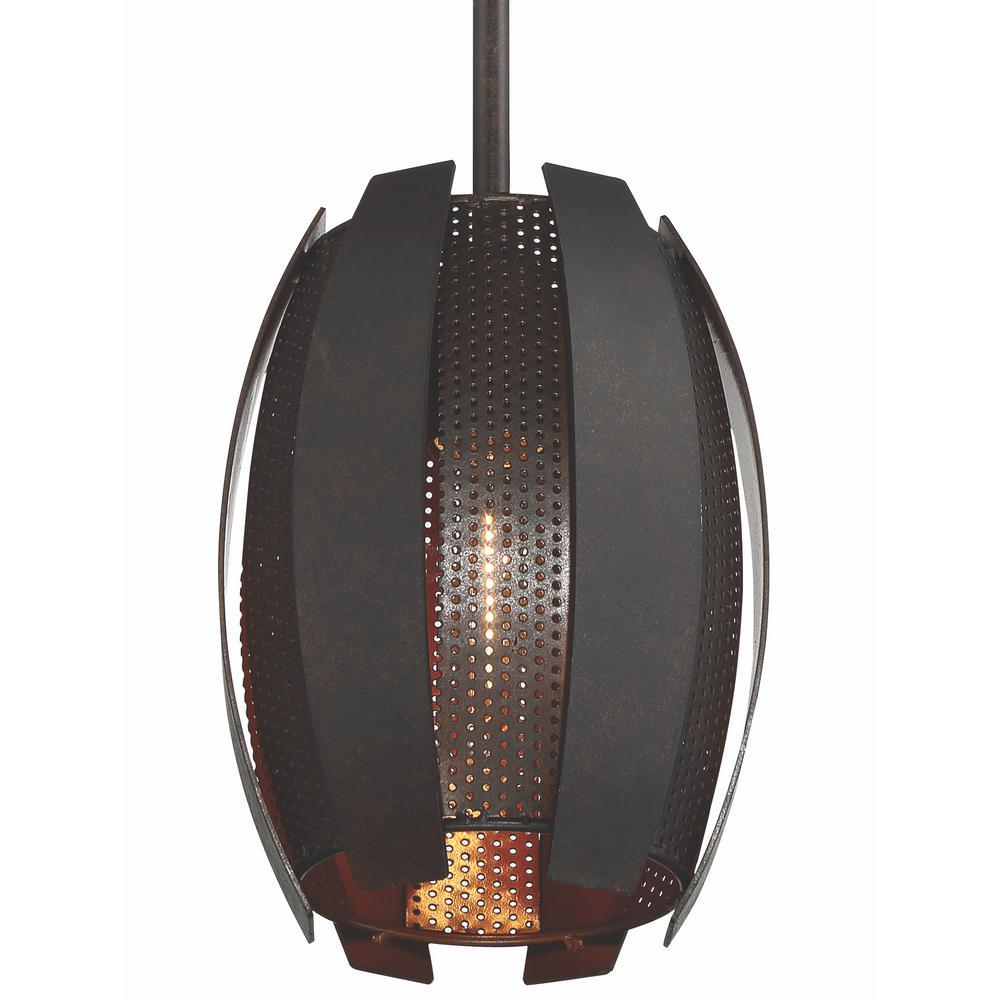 K M Lighting Chittagong: Varaluz Sawyer's Bar 1-Light Two-Tone Copper Ore Mini