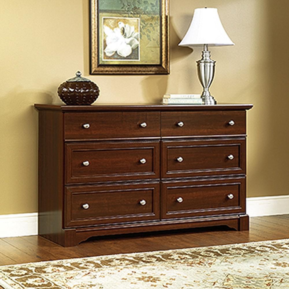 SAUDER Palladia 6 Drawer Select Cherry Dresser The Home Depot