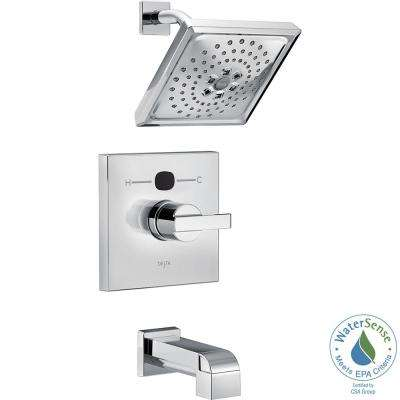 Temp2O Angular Modern Single-Handle Tub and Shower Faucet Trim Kit in Chrome (Valve Not Included)