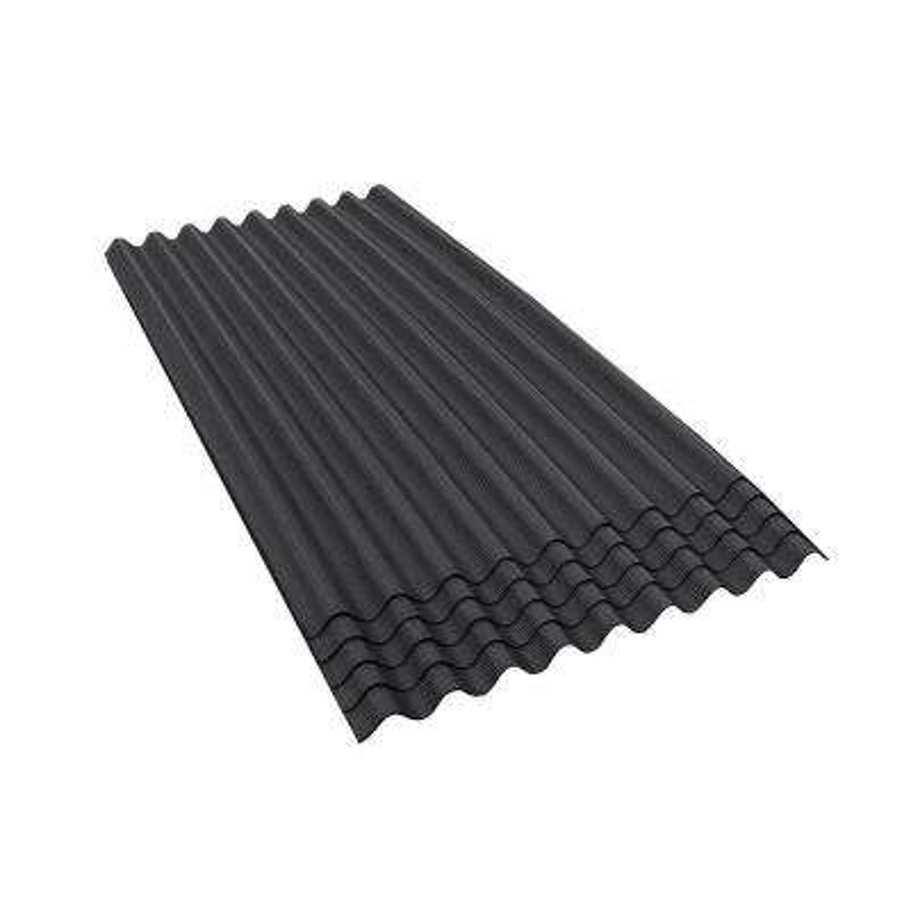 6 ft. 7 in. x 3 ft. Asphalt Corrugated Roof Panel in Black (5-Pack)