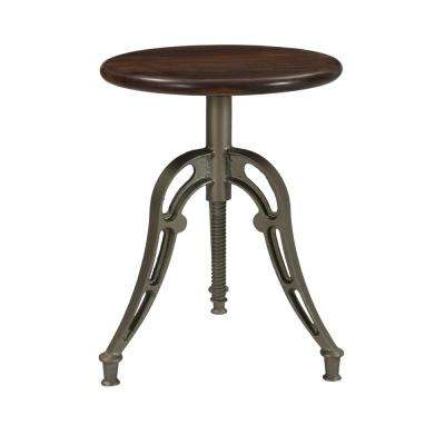 Bristol Honey Brown and Antique Silver Adj 18 to 26 in. HighBar stool