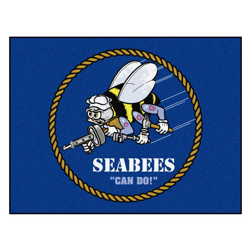 FANMATS U.S. Navy - SEABEES 34 in. x 43 in. All Star Mat Area Rug