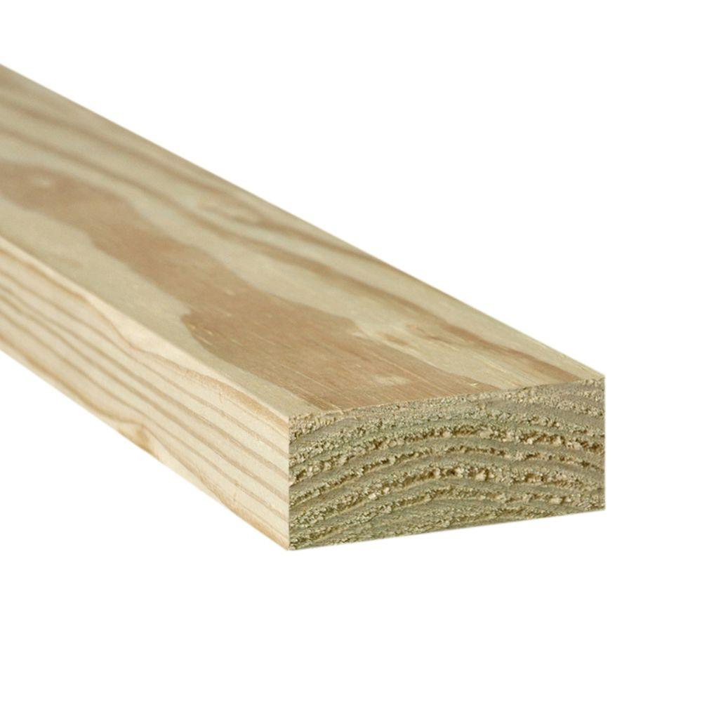 2 In X 6 In X 20 Ft 2 Ground Contact Pressure Treated Lumber 253943 The Home Depot