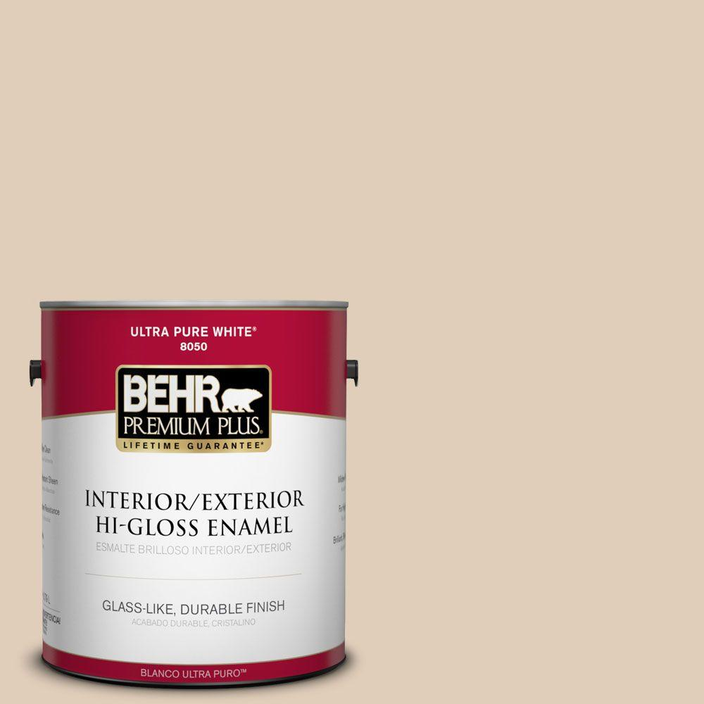 1-gal. #PWN-66 Toasted Cashew Hi-Gloss Enamel Interior/Exterior Paint