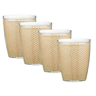 Fishnet 14 oz. Tan Insulated Drinkware (Set of 4)