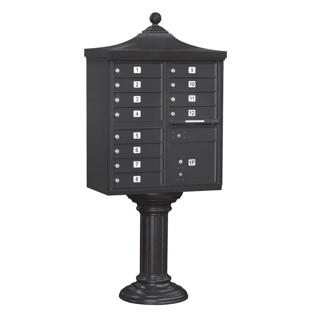 Salsbury Industries Regency Decorative 12-Compartment Post-Mount Cluster Box Unit