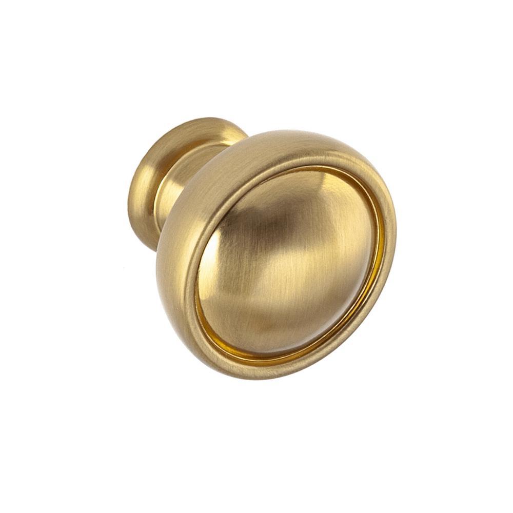 SumnerStreetHomeHardware Sumner Street Home Hardware Grayson 1-1/8 in. Satin Brass Round Cabinet Knob
