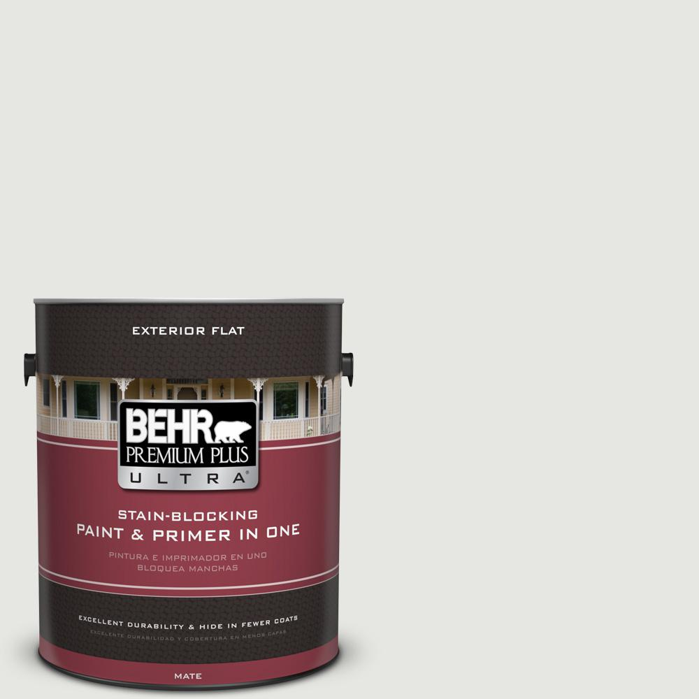 1 gal. #HDC-NT-10G Wedding Cake White Flat Exterior Paint