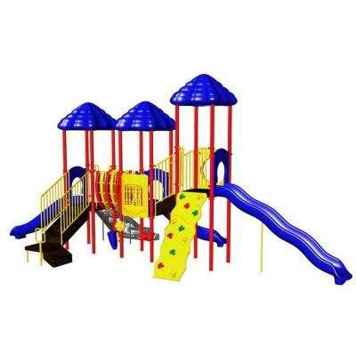 UPlay Today Rainbow Lake Playful Commercial Playground Playset