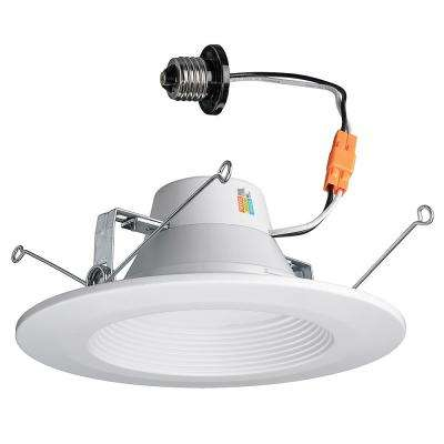 5/6 in. White Recessed LED Color Changing CCT Downlight,11 Watt, 670 Lumens, 2700-3000-4000K Warm, Bright, Daylight
