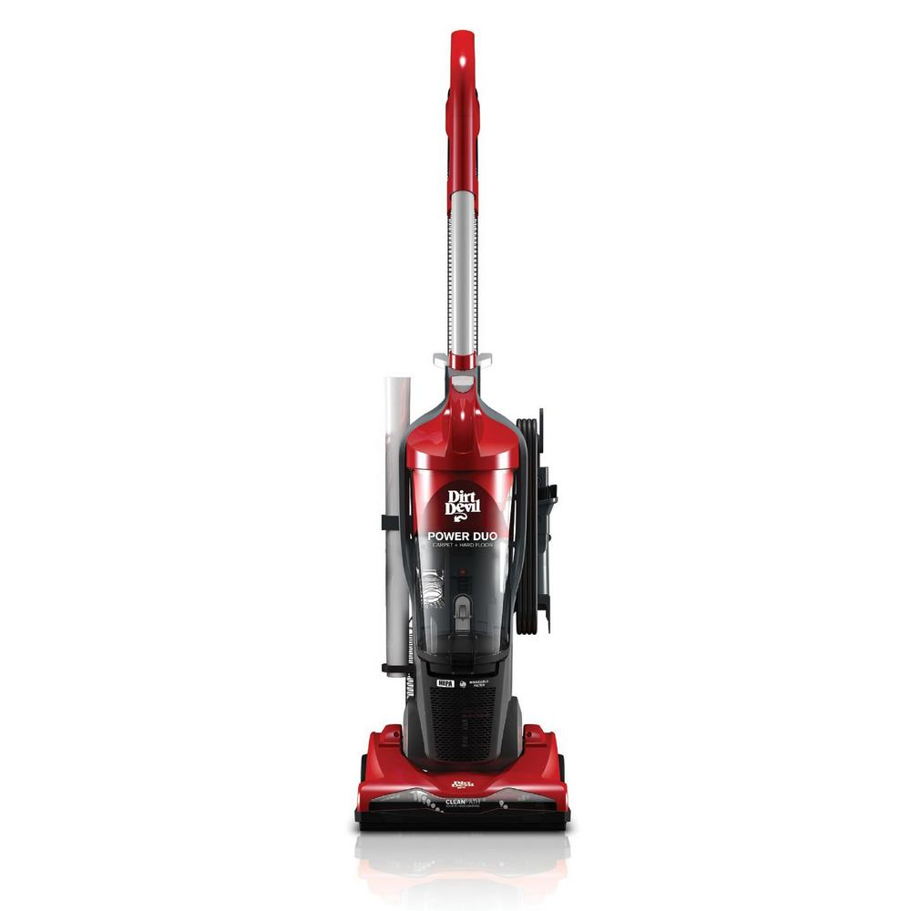 Dirt Devil Duo Carpet And Hard Floor Cyclonic Bagless Upright Vacuum Cleaner