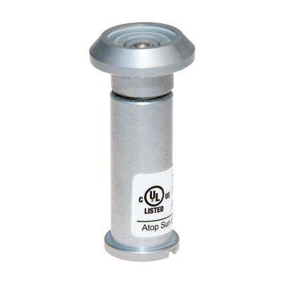 180-Degree Satin Chrome Door Viewer with Glass Lenses