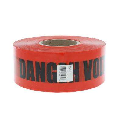3 in. x 1,000 ft. Barricade Tape Danger High Voltage Keep Out, Red