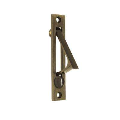 4 in. Solid Brass Edge Pull in Antique Brass