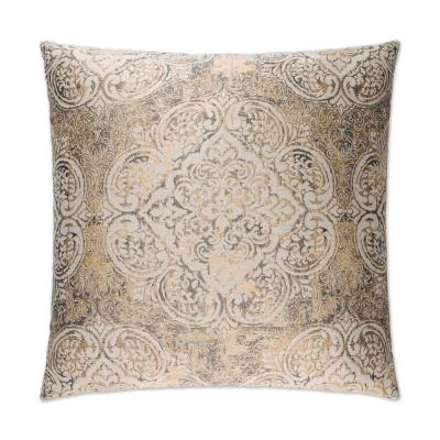 Vogue Pewter Geometric Down 24 in. x 24 in. Throw Pillow