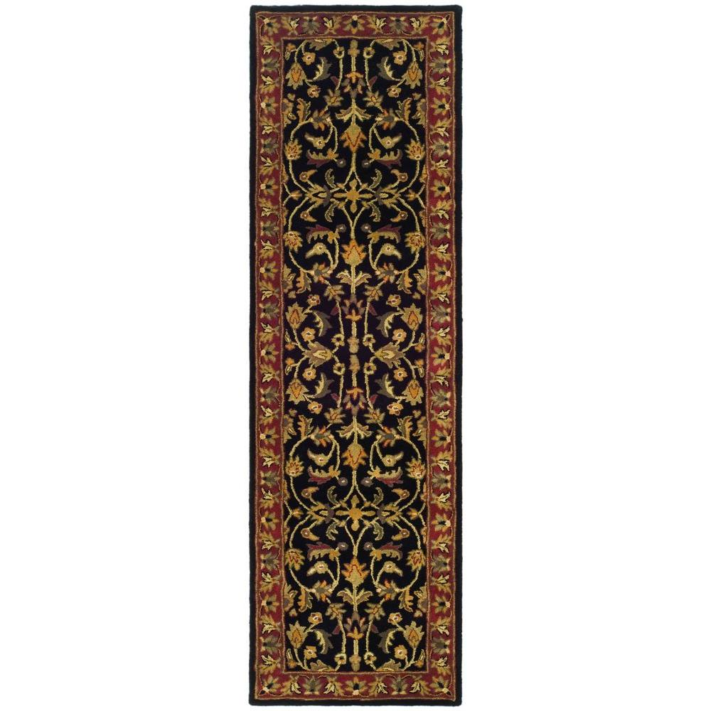 Heritage Black/Red 2 ft. 3 in. x 10 ft. Runner
