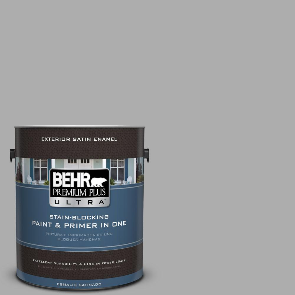 1 gal. #HDC-NT-27A Soft Pebble Exterior Satin Enamel Paint