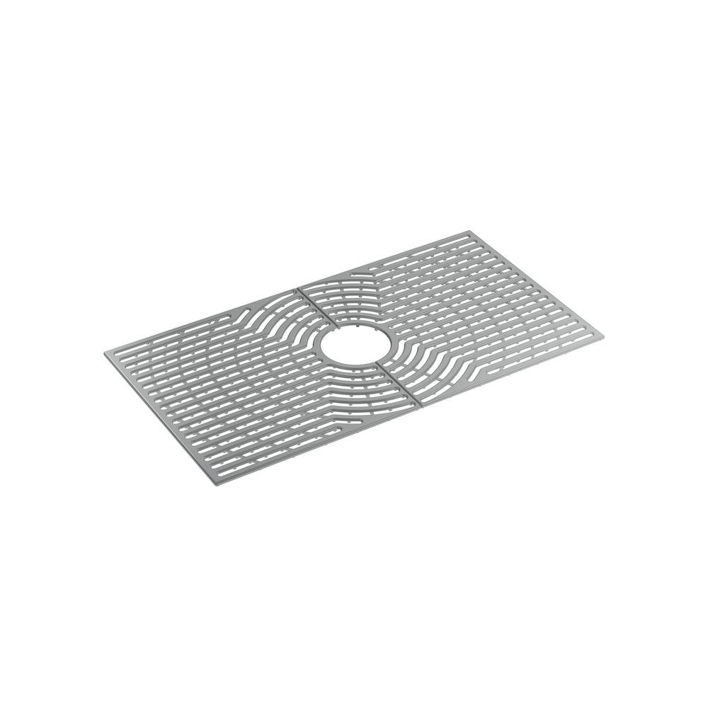Ash Grey Silicone Kitchen Sink Mat