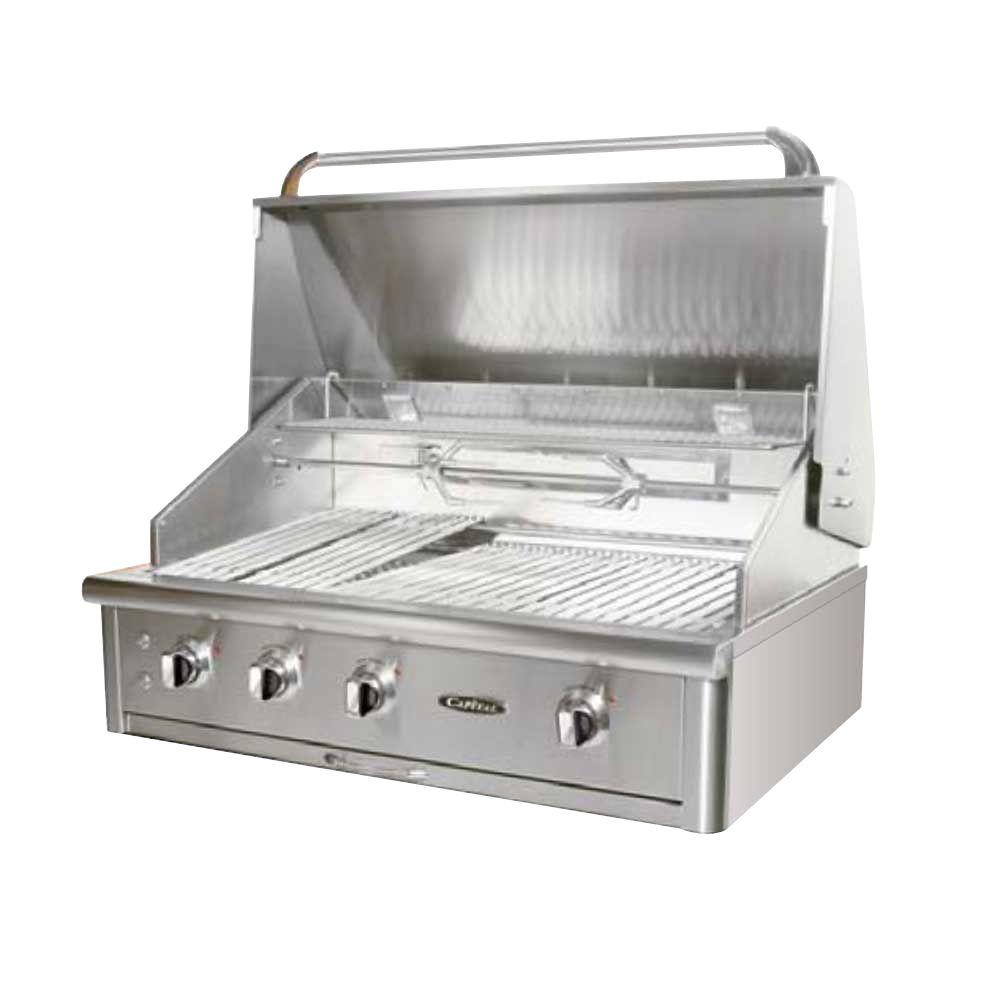 Capital precision 4 burner built in stainless steel propane gas grill hcg40rbil the home depot - Home depot bbq propane ...