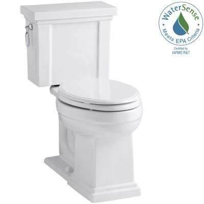 Tresham 2-piece 1.28 GPF Elongated Toilet with AquaPiston Flush Technology in White