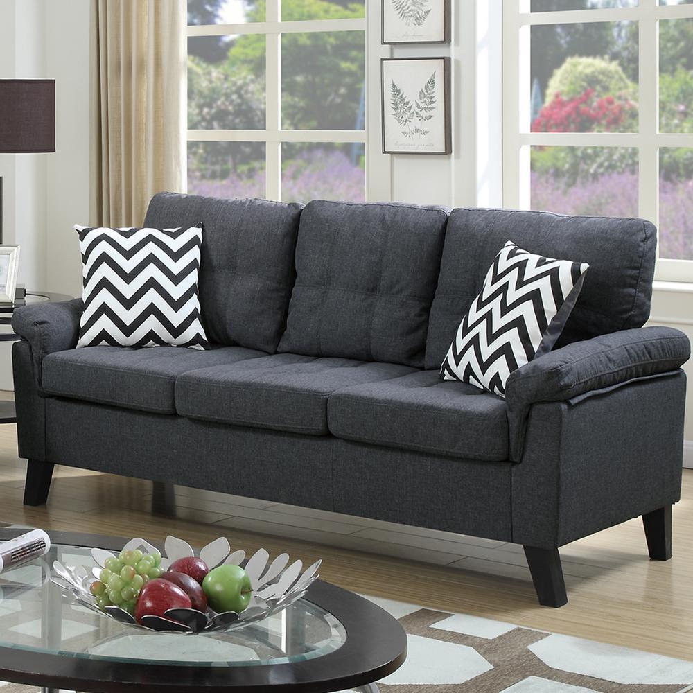 Venetian Worldwide Liguria 2-Piece Blue Gray Sofa Set VENE ...