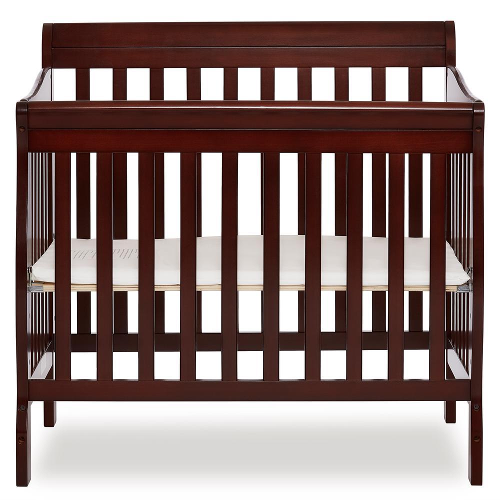 Dream On Me Aden 3-in-1 Convertible Mini Crib in Espresso