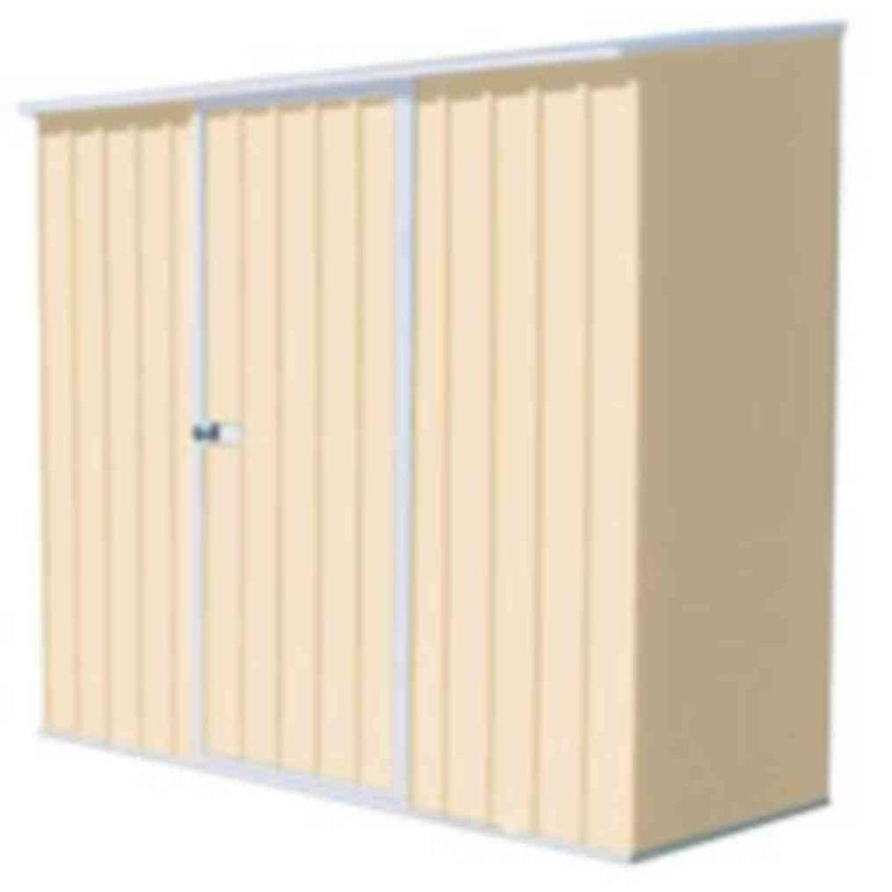 absco 7 ft x 3 ft spacesaver classic cream tool shed