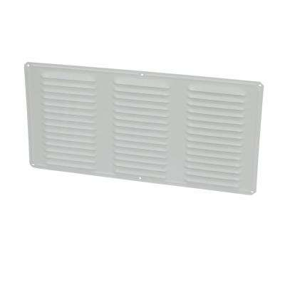 Undereave 16 in. x 8 in. Louvered Aluminum Soffit Vent in White (24-Pieces/Carton Only)