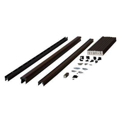 Symmetry 6 ft. Simply Brown Capped Composite Line/Stair Rail Section with 29.5 in. Balusters