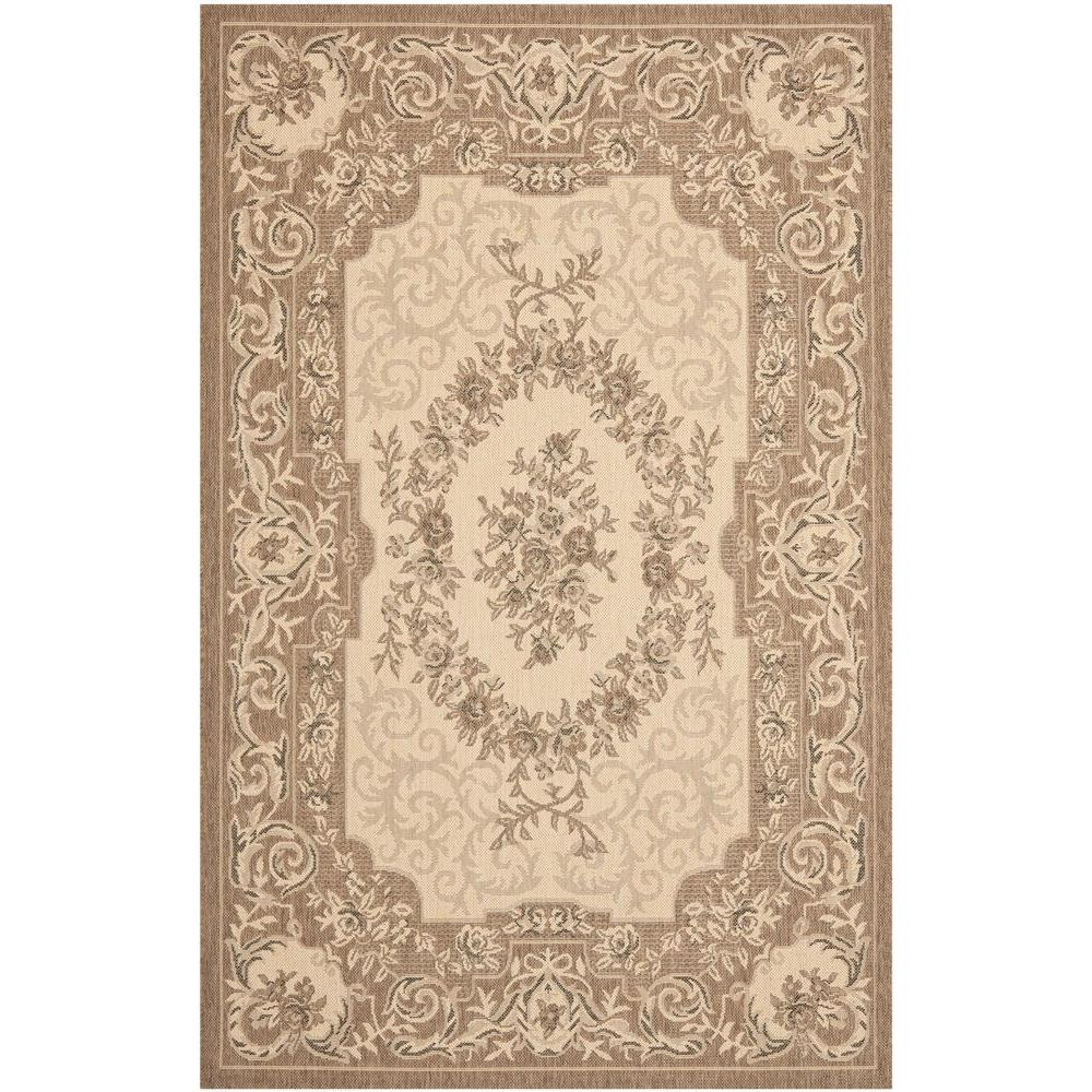 Courtyard Cream/Brown 5 ft. 3 in. x 7 ft. 7 in.