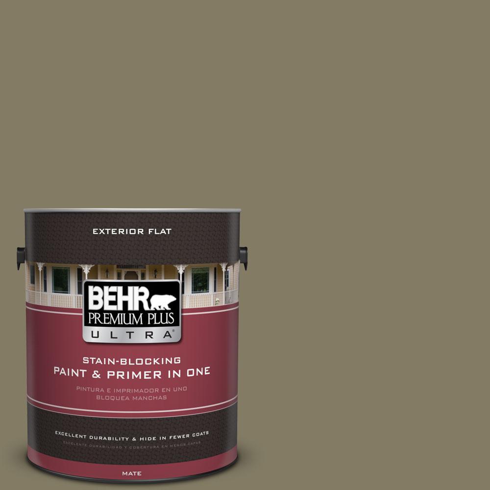 BEHR Premium Plus Ultra 1-Gal. #PPU8-24 Deserted Island Flat Exterior Paint
