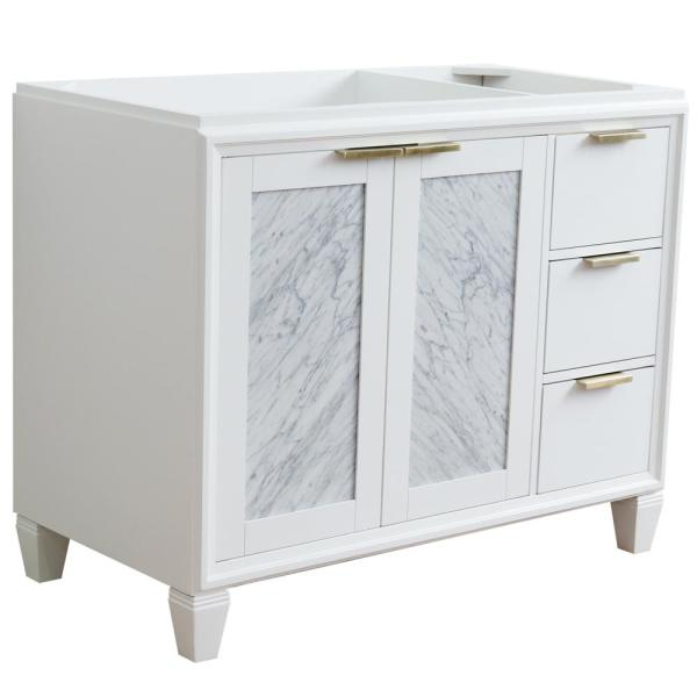 42 in. W x 21.5 in. D Single Bath Vanity Cabinet Only in White