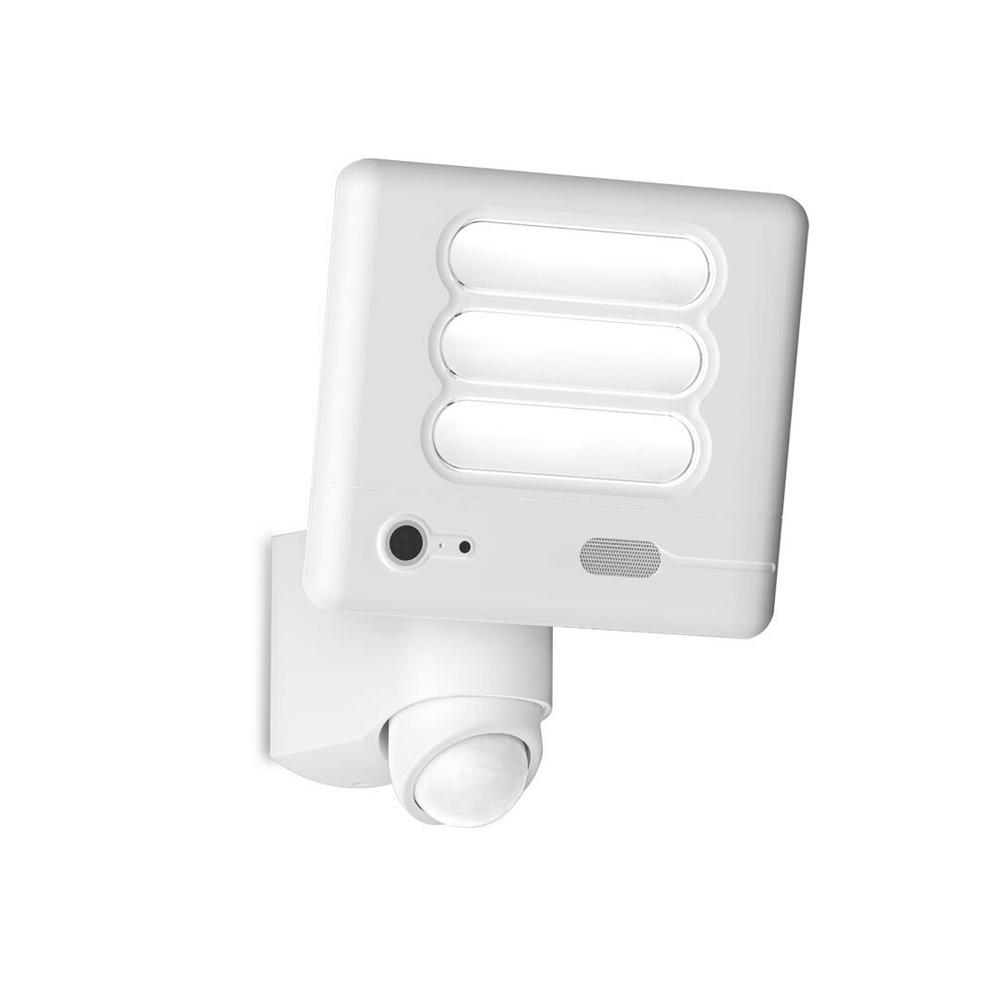 180-Degree 1-Head White Motion Activated Outdoor Integrated LED ...