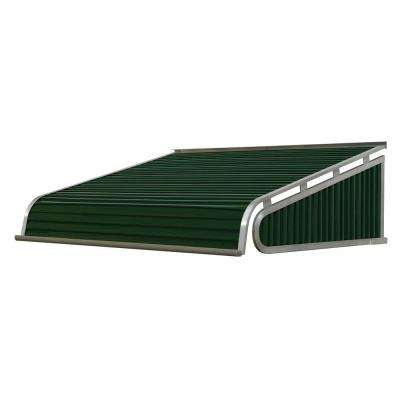 7 ft. 1500 Series Door Canopy Aluminum Awning (12 in. H x 42 in. D) in Evergreen